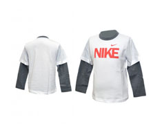 Nike long sleeve just do it little boys