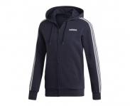 Adidas casaco c/ capuz essentials 3 stripes fleece