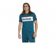 Reebok t-shirt linear logo color blocked