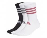 Adidas meias glam stripes pack3