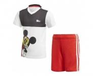 adidas t-shirt+calção mickey mouse boys