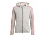 Adidas casaco c/ capuz 3s essentials girls