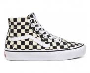 Vans sapatilha sk8 checkerboard hi w