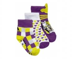 adidas meias pack 3 thin disney girls